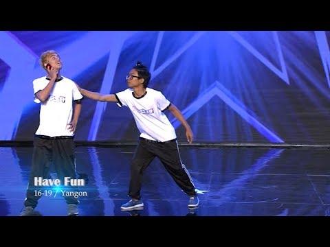 Have Fun Dancers Audition | Myanmar's Got Talent 2017 Season 4 ျမန္မာ (2017MGT_Episode 3)