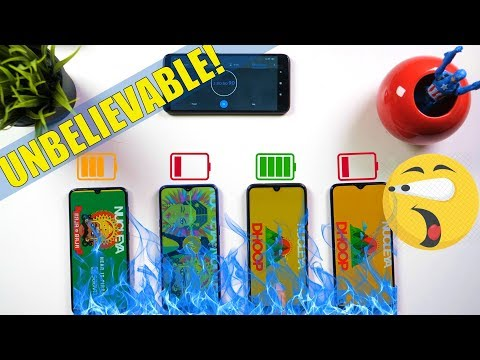 Realme 3 Pro vs Redmi Note 7 Pro Vs Samsung A50 Vs A20 Battery Comparison Charging Drain Test