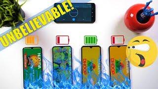 Realme 3 Pro vs Redmi Note 7 Pro Vs Samsung A50 Vs A20: Battery Comparison | Charging/Drain Test