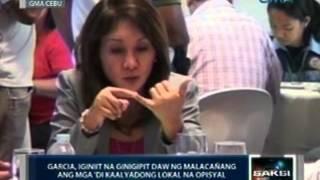 Saksi: Cebu Gov. Gwen Garcia, iginiit na may bahid-pulitika ang pagsususpinde sa kanya