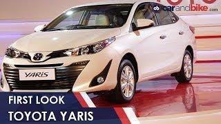 New Toyota Yaris First Look | #AutoExpo2018 | NDTV carandbike