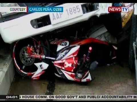 BP: Rider ng motorsiklo, patay sa karambola ng 18 sasakyan sa Pasig