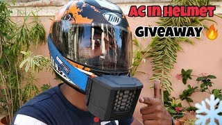 Helmet AC + Giveaway | Best for summer rides
