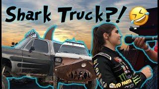 Is That A Shark Truck?! Hailie Races NASCAR in Tucson!