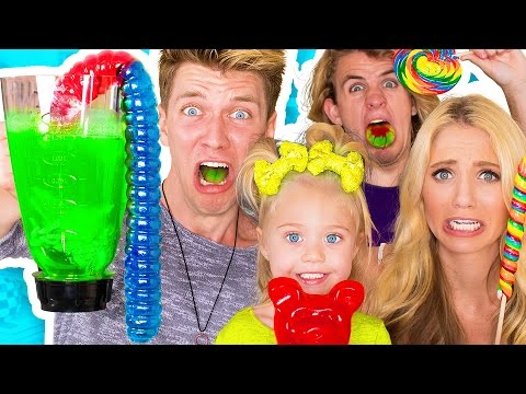 SOUREST GUMMY DRINK IN THE WORLD CHALLENGE Warheads Toxic Waste Smoothie EXTREMELY DANGEROUS