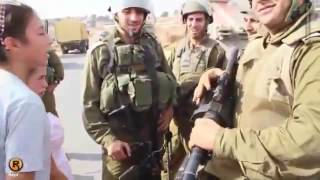 Brave Palestinian girl Ahed Tamimi vs Soldier   Where is my brother        360p