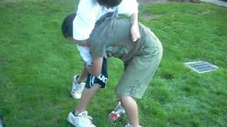trying to lift my brother
