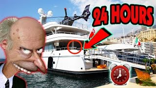(GONE WRONG) 24 HOUR OVERDAY CHALLENGE ON MILLIONAIRE SUPER YACHT | (POLICE HIDE & SEEK ON YACHT)