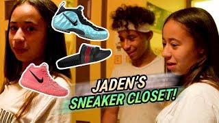 Jaden Newman Has A Better SNEAKER CLOSET Than Julian!? How Many Pairs Of GUCCIS!? 💰