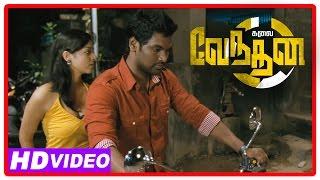 Kalai Vendhan Tamil Movie | Scenes | Goons kidnap Sanam Shetty | Ajay arrested for killing Sanam
