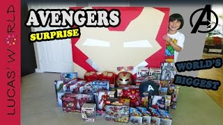World's Biggest HULK BUSTER Iron Man Square Surprise Egg AVENGERS Age of Ultron Toys | Lucas World
