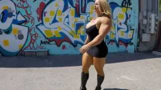 Aleesha Young does the walk