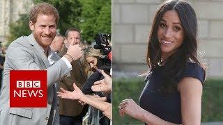 Royal wedding: Harry greets fans, Meghan arrives at hotel - BBC News