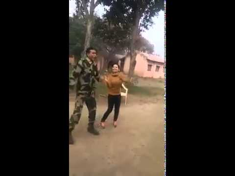 kashmari girl  dance with indian army in jammu
