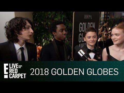 Stranger Things Cast Excited for 2018 Golden Globe Awards E Red Carpet & Award Shows