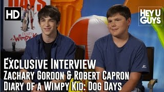 Zachary Gordon & Robert Capron Exclusive Interview - Diary of a Wimpy Kid: Dog Days
