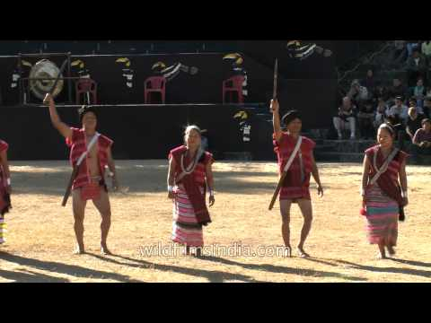 Arunachal Pradesh tribal dance at the Hornbill festival, Nagaland
