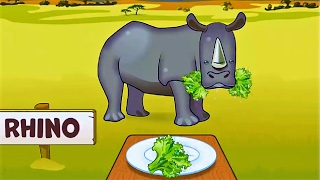 Baby Learn Animals & The Favorite Foods Of Animal - Fun Educational Games