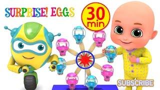 Kids Toys - Amusement Park Rides balloon Giant Wheel   Surprise Eggs Toys unboxing from Jugnu Kids