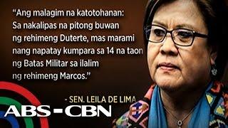 TV Patrol: De Lima, binanatan si Duterte kahit nasa loob na ng kulungan