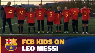FCB Escola players from all over the world congratulate Messi
