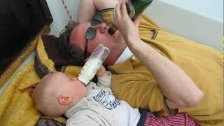 Like Father like Baby -  Cute Babies trying to Copy Daddy Funny way Compilation