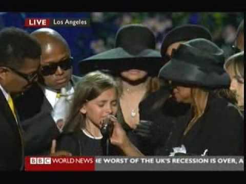 Michael Jackson Memorial Daughter Paris Says Goodbye