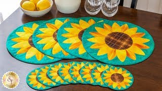 How to Make Sunflower Placemats & Coasters | A Shabby Fabrics Sewing Tutorial