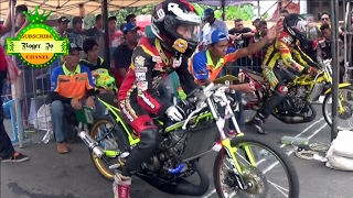 Drag Bike BSMC Pemalang 2017 DUEL SERU Class NINJA Tune Up 155 CC POIN