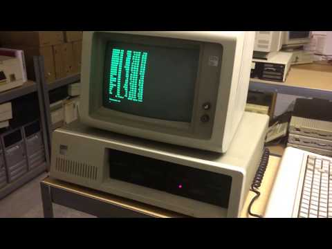 IBM 5150 Personal Computer video - 1981 vintage computer