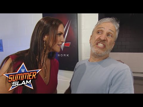 Jon Stewart encounters Stephanie McMahon backstage: SummerSlam 2016, only on WWE Network