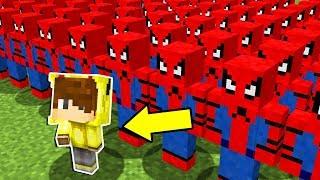 1000 TANE ÖRÜMCEK ADAM ORDUSU VS ISMETRG! - Minecraft