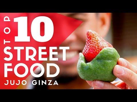Top 10 Tokyo Street Food at Jujo Ginza   Local Japanese Eats