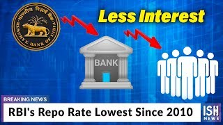 RBI's Repo Rate Lowest Since 2010