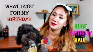 WHAT I GOT FOR MY BIRTHDAY?! FOREVER 21, TJMaxx, & Many more|2017
