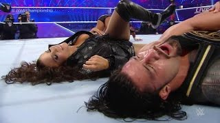 WRESTLEMANIA 32 FULL SHOW REVIEW ROMAN REIGNS WINS WWE TITLE CHARLOTTE VS SASHA VS BECKY