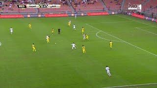 مؤمن زكريا يتألق ويسجل هدفين في أول مباراة له مع الأهلي السعودي في شباك العروبة