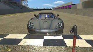 Garry's mod gameplay - Koenigsegg agera on tsukuba circuit.