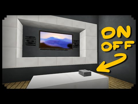 ✔ Minecraft How to make a Working TV