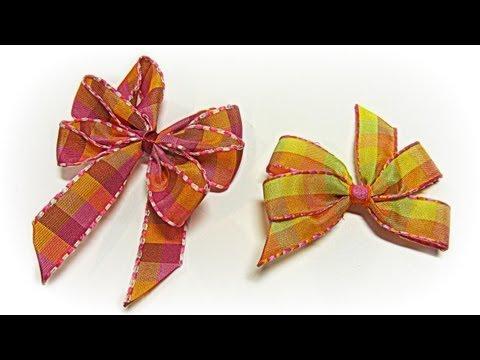 Como hacer lazos perfectos muy fácil. Perfect bow easy.