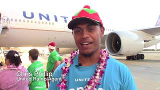 United Airlines host keiki on annual 'fantasy flight' to North Pole