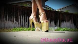 Stripper Heels Crushing Water Bottle
