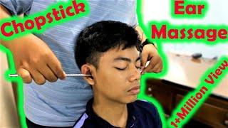 Relaxing Chopsticks Head and Ear Massage - ASMR Sound