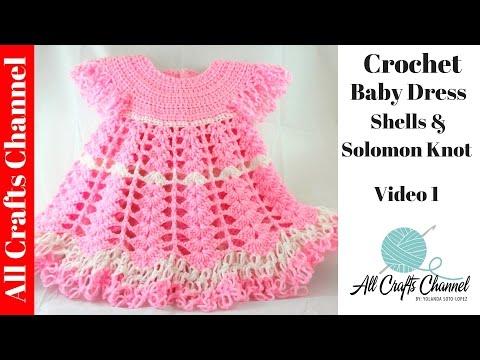 Детское платье крючком, видео урок вязание - дети Pinterest