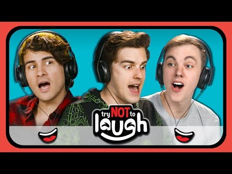 YouTubers React to Try to Watch This Without Laughing or Grinning 24