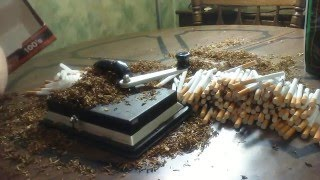 A carton of cigarettes rolled in 18 minutes with top-o-matic cigarette injector