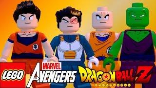 LEGO Marvel Avengers (Vingadores) Dragon Ball Z Pack Goku, Vegeta, Piccolo, Kuririn (MOD)