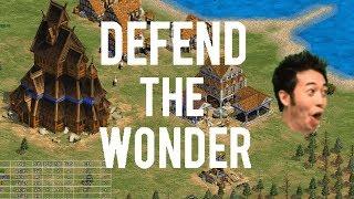 AoE2 -Epic 3v5 Defend The Wonder!