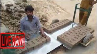 Brick Making Machine With Tractor Used In Pakistan Old Machine #SON