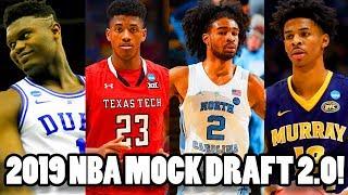 2019 NBA MOCK DRAFT 2.0! MY Predictions for the 2019 NBA Draft